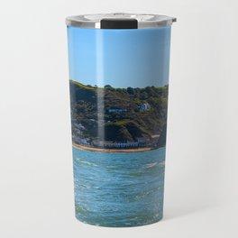 Llangrannog from The sea. Travel Mug