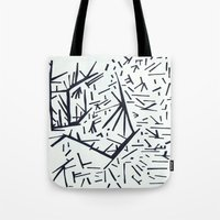 pi Tote Bags featuring pi by Ana Vânia Fonseca