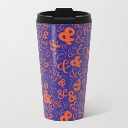 Ampersands - Blue & Orange Travel Mug