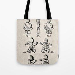 Legos Patent - Block Man Art - Antique Tote Bag
