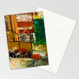 Saeki Yuzo Cafe Terrace with Posters Stationery Cards