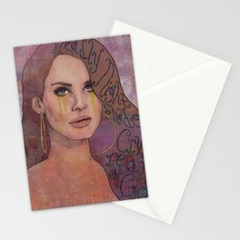 Lana - Deadly Nightshade Crying Tears Of Gold Stationery Cards