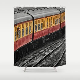 Waiting For A Train Shower Curtain