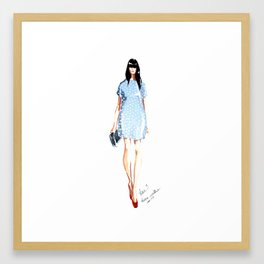 Karen Walker SS 13 Fashion Illustration Framed Art Print