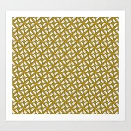 Geometric brownish pattern - Tile lover Art Print
