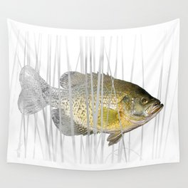 Black Crappie Fish Wall Tapestry