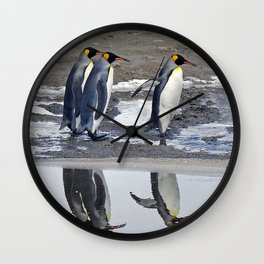 King Penguin Reflections Wall Clock