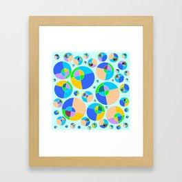 Bubble blue & orange Framed Art Print