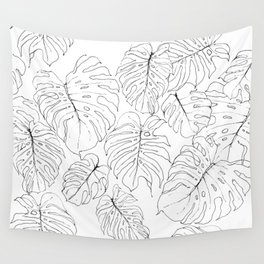 Monstera Deliciosa (Delicious Monster Leaves) Wall Tapestry