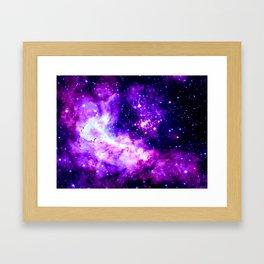 Purple Galaxy : Celestial Fireworks Framed Art Print