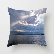 Sun Beams Throw Pillow