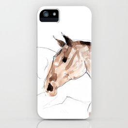 Horses (young lusitanos) iPhone Case