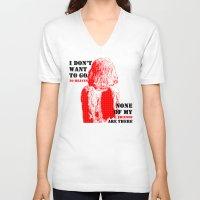 oscar wilde V-neck T-shirts featuring Oscar Wilde #7 I don't want to go to heaven by bravo la fourmi