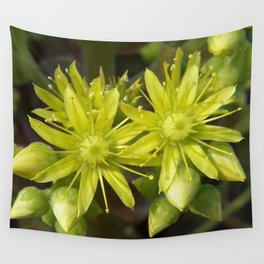 Blooming Green Wall Tapestry