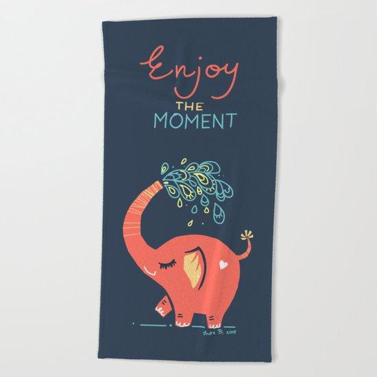 Enjoy the Moment Beach Towel