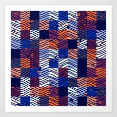 Square Wave Art Print