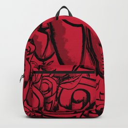 Funky Quirky Red Roses Backpack