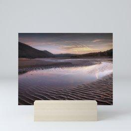 The river at Three Cliffs Bay Mini Art Print