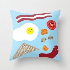 An Emotional Breakfast Throw Pillow