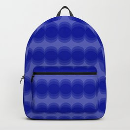 Four Shades of Blue Circles Backpack