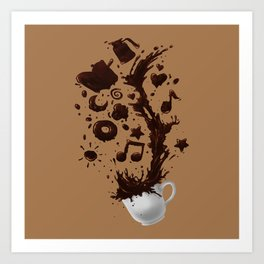 Need more Coffee Art Print