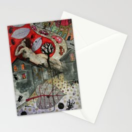 """Roofs""  Illustrated print. Stationery Cards"