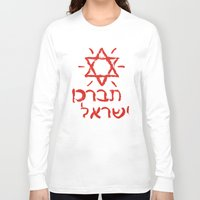israel Long Sleeve T-shirts featuring Bless Israel by biblebox
