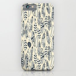 joyful feathers cream iPhone Case