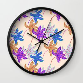 colourful autumn leaves Wall Clock