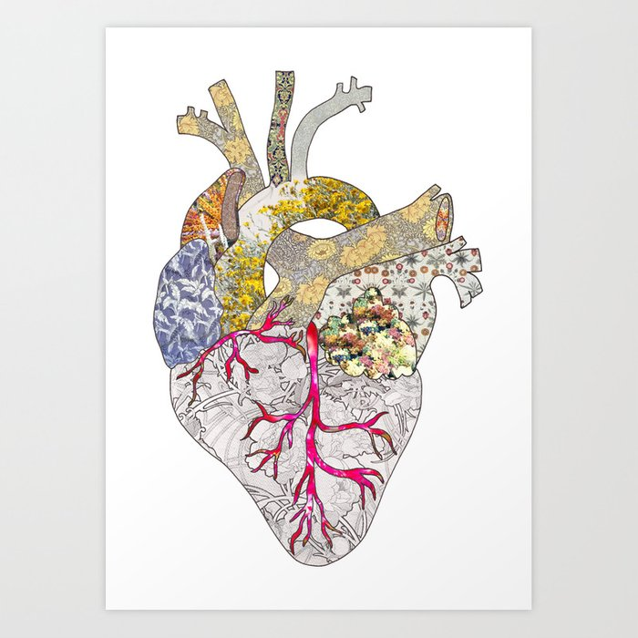 My Heart Is Real Art Print