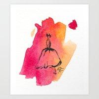 Retro Chic Runway Dress 7 Art Print