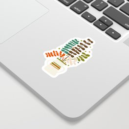 Potted Leaves Sticker