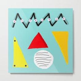 Memphis 2019 Abstract Geometric Triangle Circle Art Metal Print