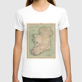 Vintage Map of Ireland (1888) T-shirt