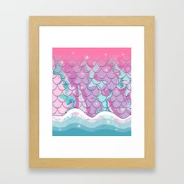 Mermaid Magic Framed Art Print