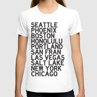 cities T-shirts featuring USA CITIES by Party in the Mountains