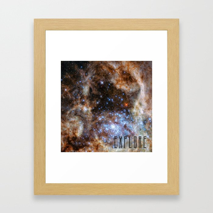 Explore - Space and the Universe Framed Art Print