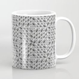 Gray volumetric drops on a rainy background. Flat design of water and drops for paper. Coffee Mug