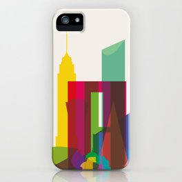Shapes of Mexico City accurate to scale iPhone Case