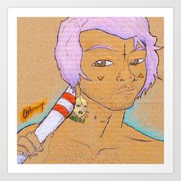 FLURO BOY Art Print