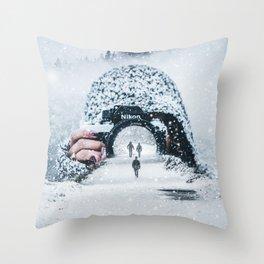 SnowPhoto by GEN Z Throw Pillow