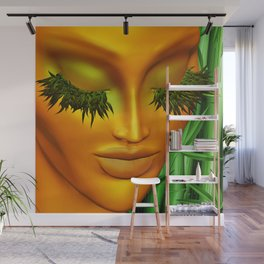 Zen Mother Nature Portrait and Bamboo Wall Mural