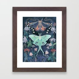Luna Moth Framed Art Print