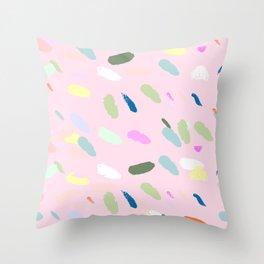 Brush confetti Throw Pillow
