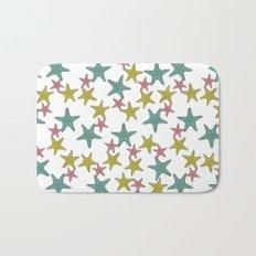 starfish tropical print Bath Mat