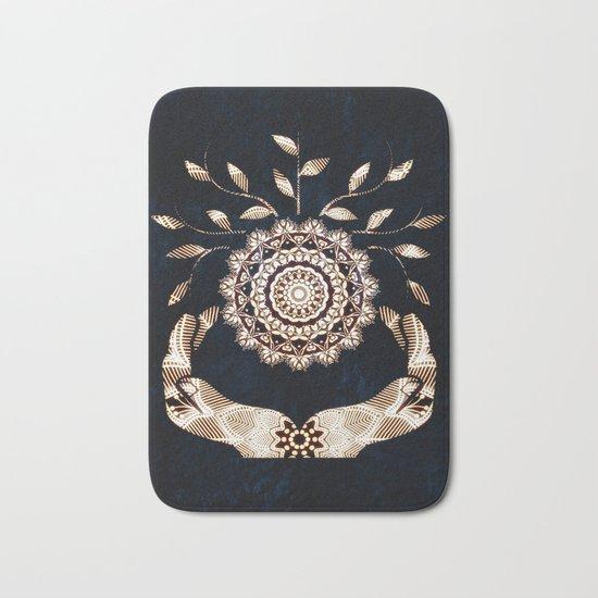 Glowing Soul-Seed Mandala Bath Mat