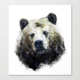 Watercolor bear Canvas Print