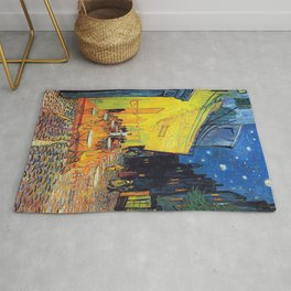 Vincent Van Gogh - Cafe Terrace at Night (new color edit) Rug