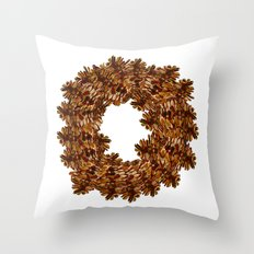 Pinecone Wreath Throw Pillow