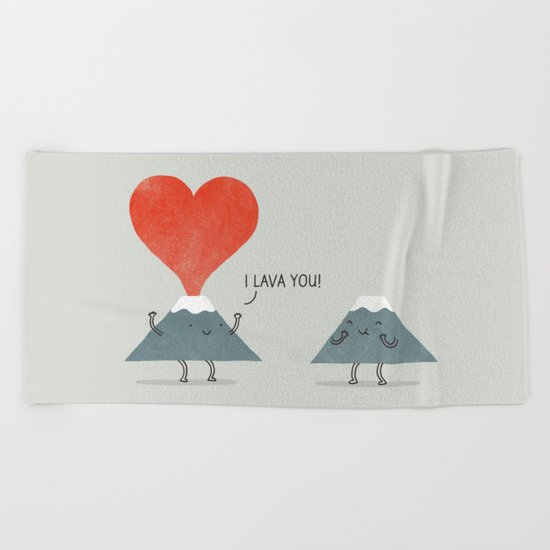 I Lava You Beach Towel